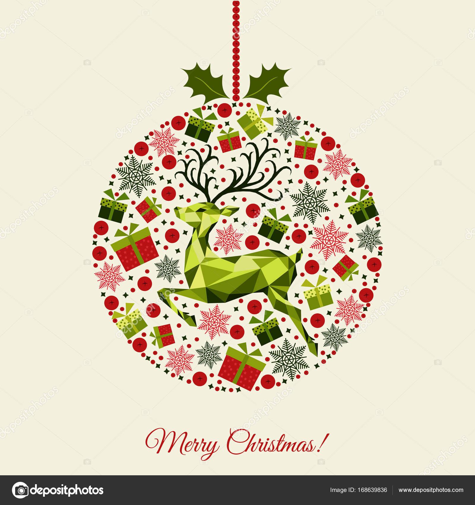 Bola De Navidad Con Motivos Archivo Imagenes Vectoriales - Motivos-navidad