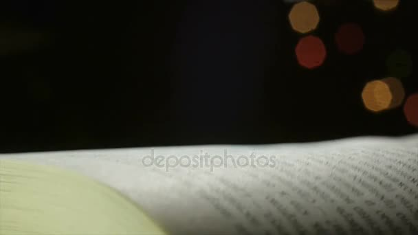 flipping book pages close-up