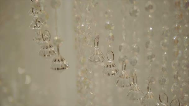 Křišťálové přívěsky dekorace, výzdoba prvky detail.