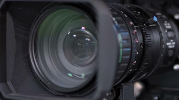 Close-up-Tv-Studio-Kamera, Zoom-Vorgang