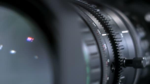 Detail televizní studio fotoaparát, zoom operace