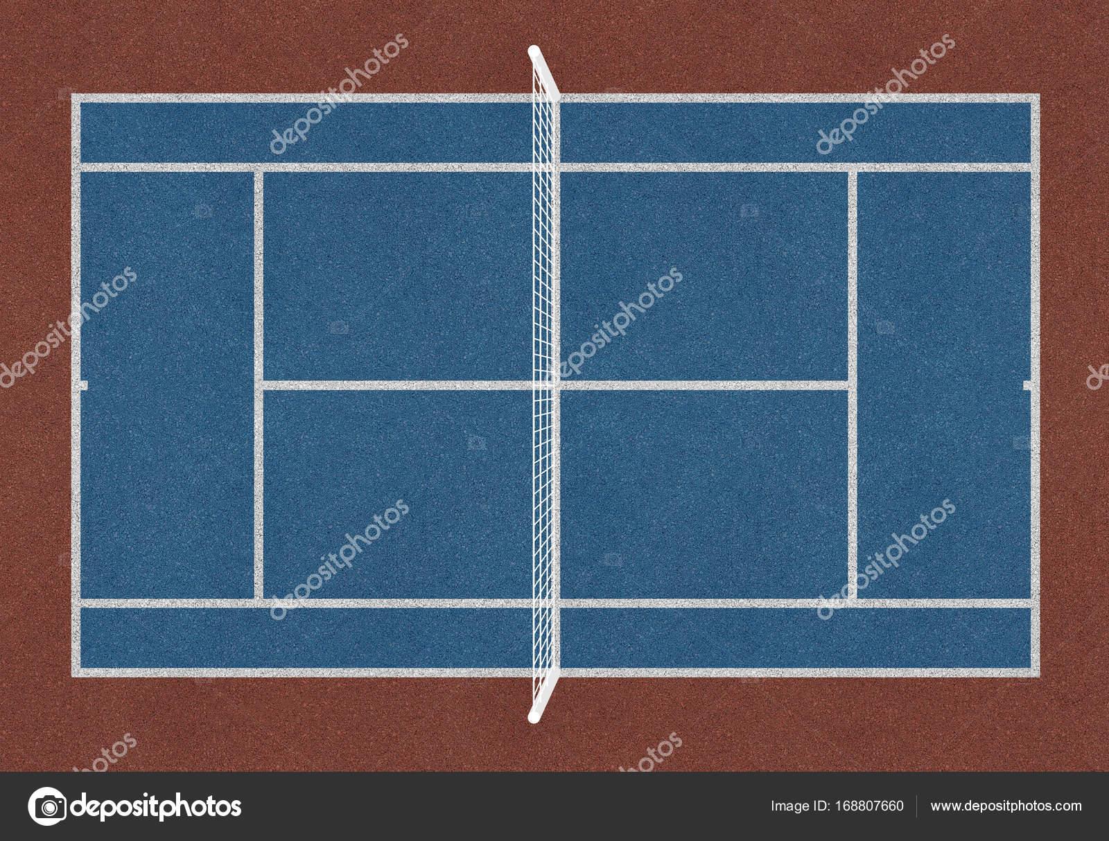 Terrain de tennis  Court de tennis bleu — Photographie