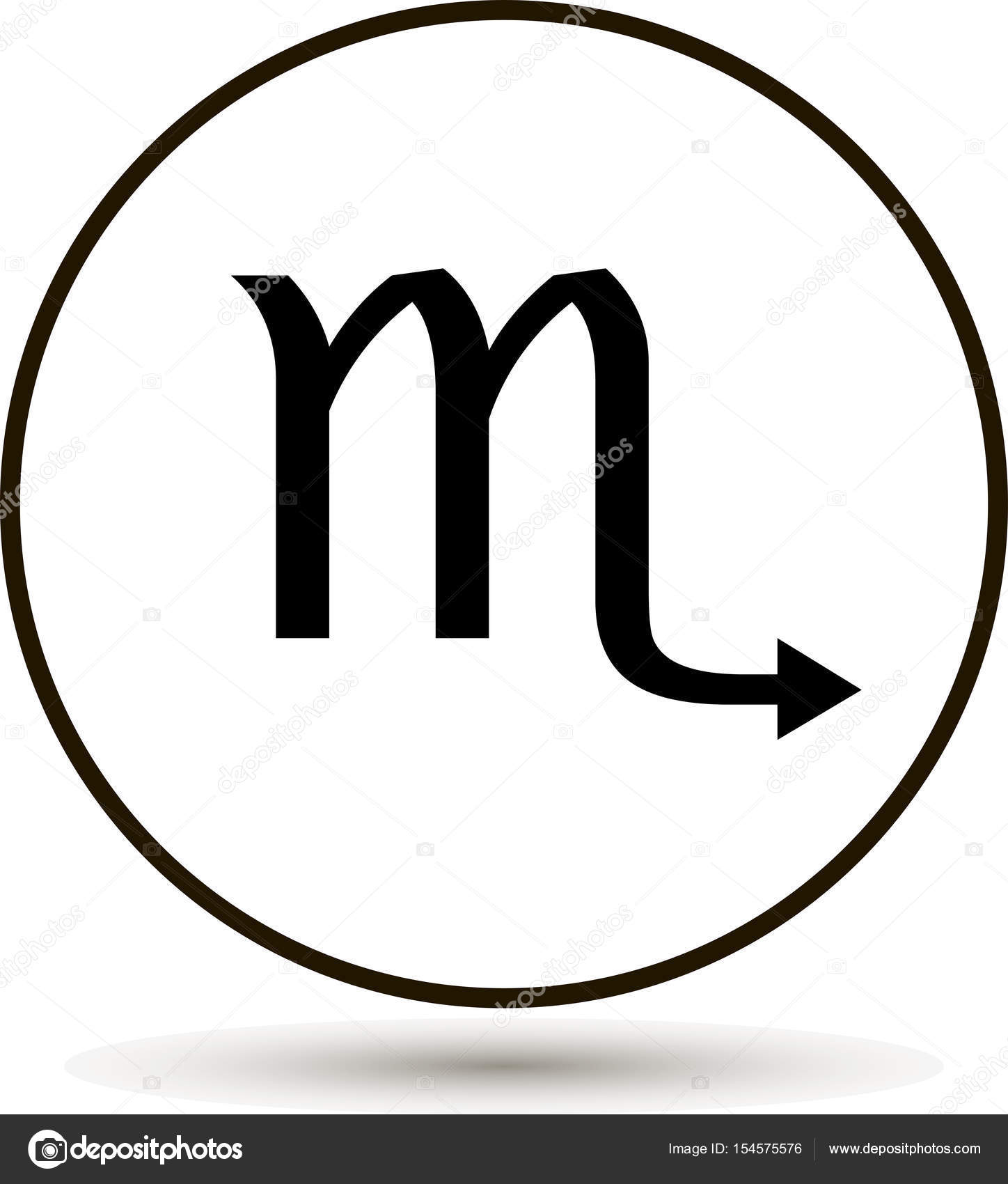 Scorpio zodiac sign astrological symbol icon in circle stock scorpio zodiac sign astrological symbol icon in circle stock vector buycottarizona Image collections