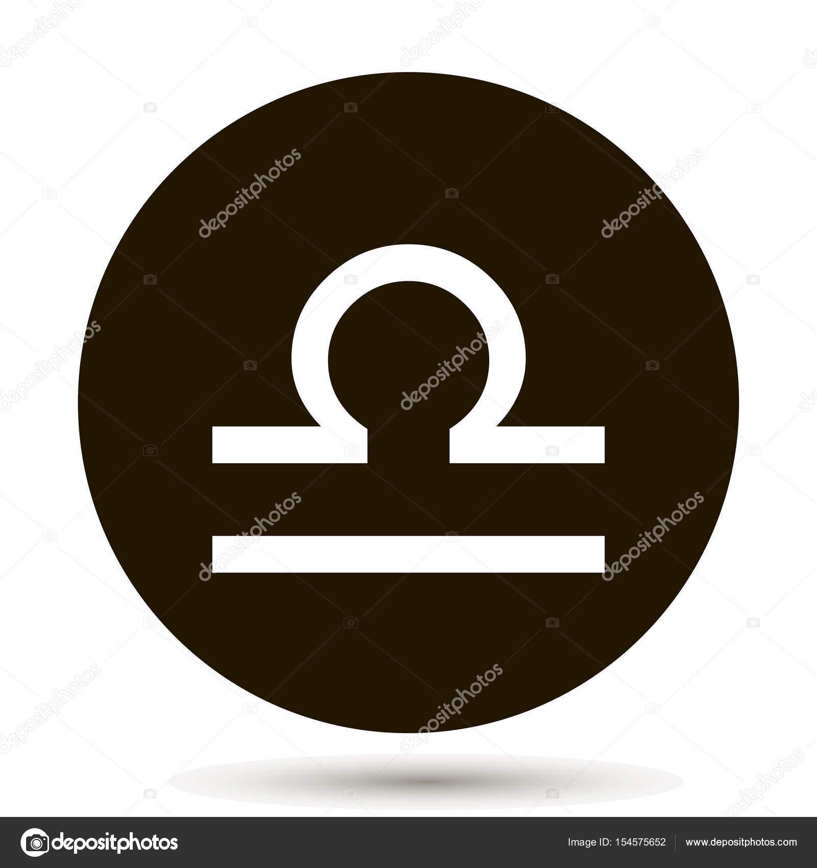 5e35e8cb7 Libra zodiac sign. Astrological symbol icon in circle. — Stock Vector