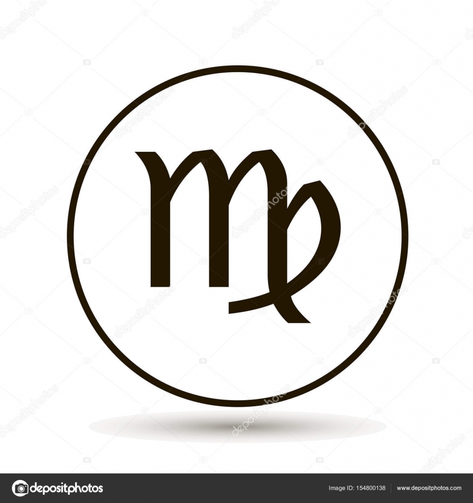 Virgo zodiac sign astrological symbol icon in circle stock virgo zodiac sign astrological symbol icon in circle stock vector buycottarizona Gallery