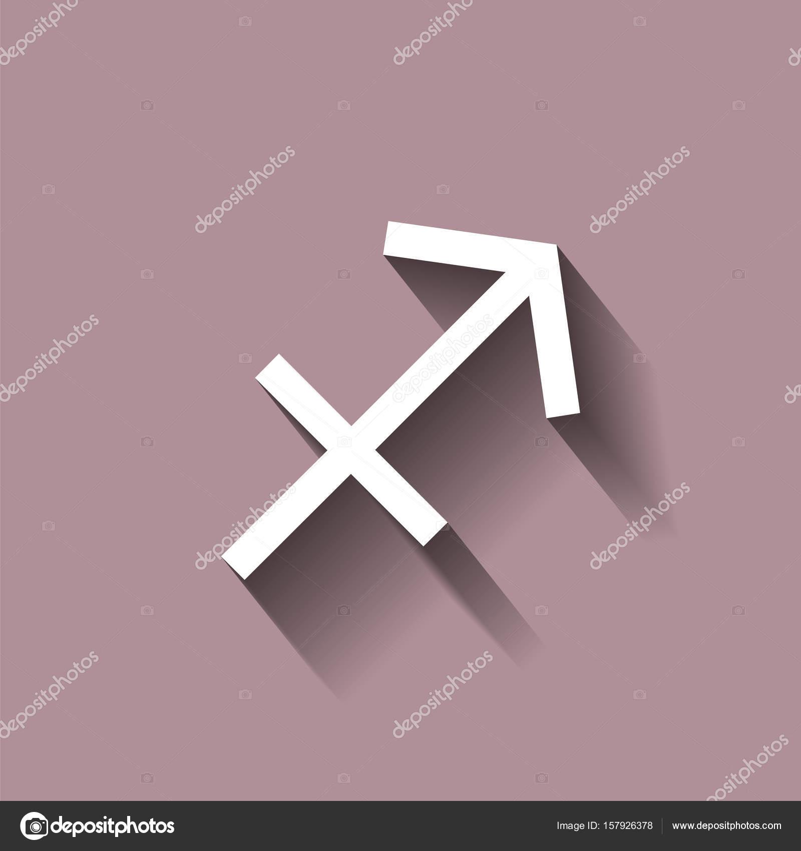 Sagittarius zodiac sign astrological symbol icon with shadow sagittarius zodiac sign astrological symbol icon with shadow stock vector biocorpaavc
