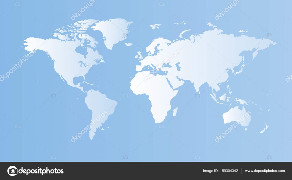 Blank blue world map on isolated blue background world map vect blank blue world map on isolated blue background world map vect stock vector gumiabroncs Images