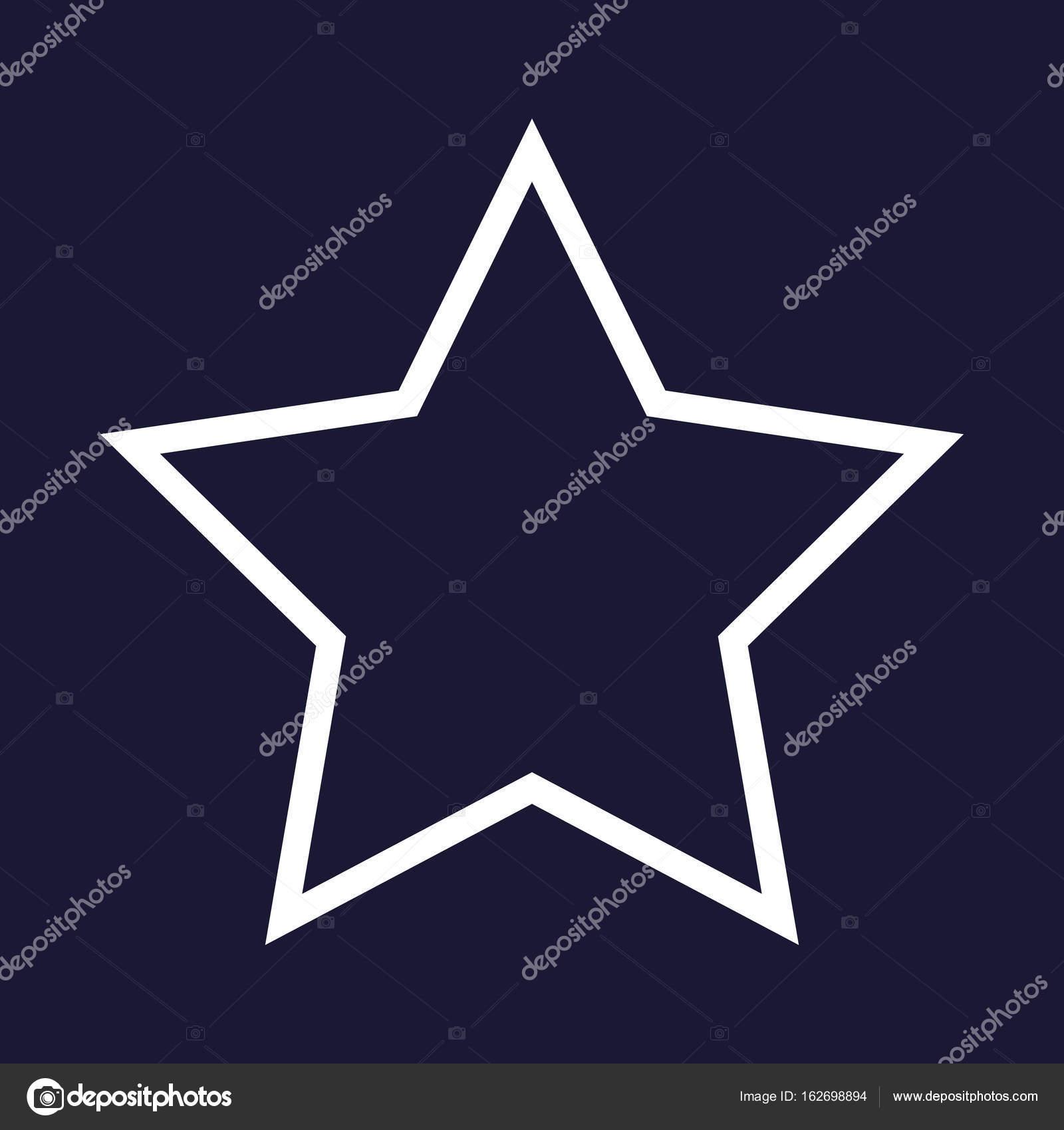 Vektor Symbol Fünfzackigen Stern — Stockvektor © oksanaoo #162698894
