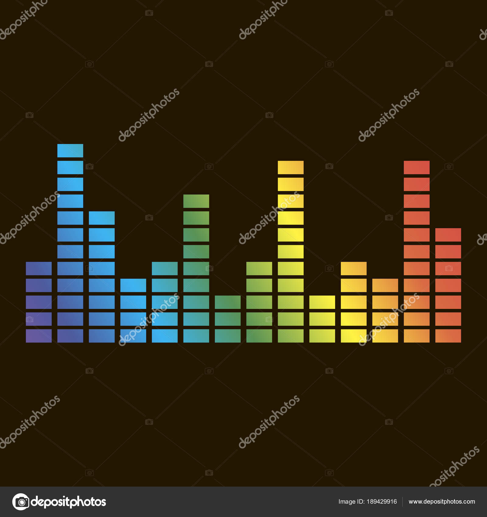 Vector icon of musical equalizer  A musical sound wave Vector ic