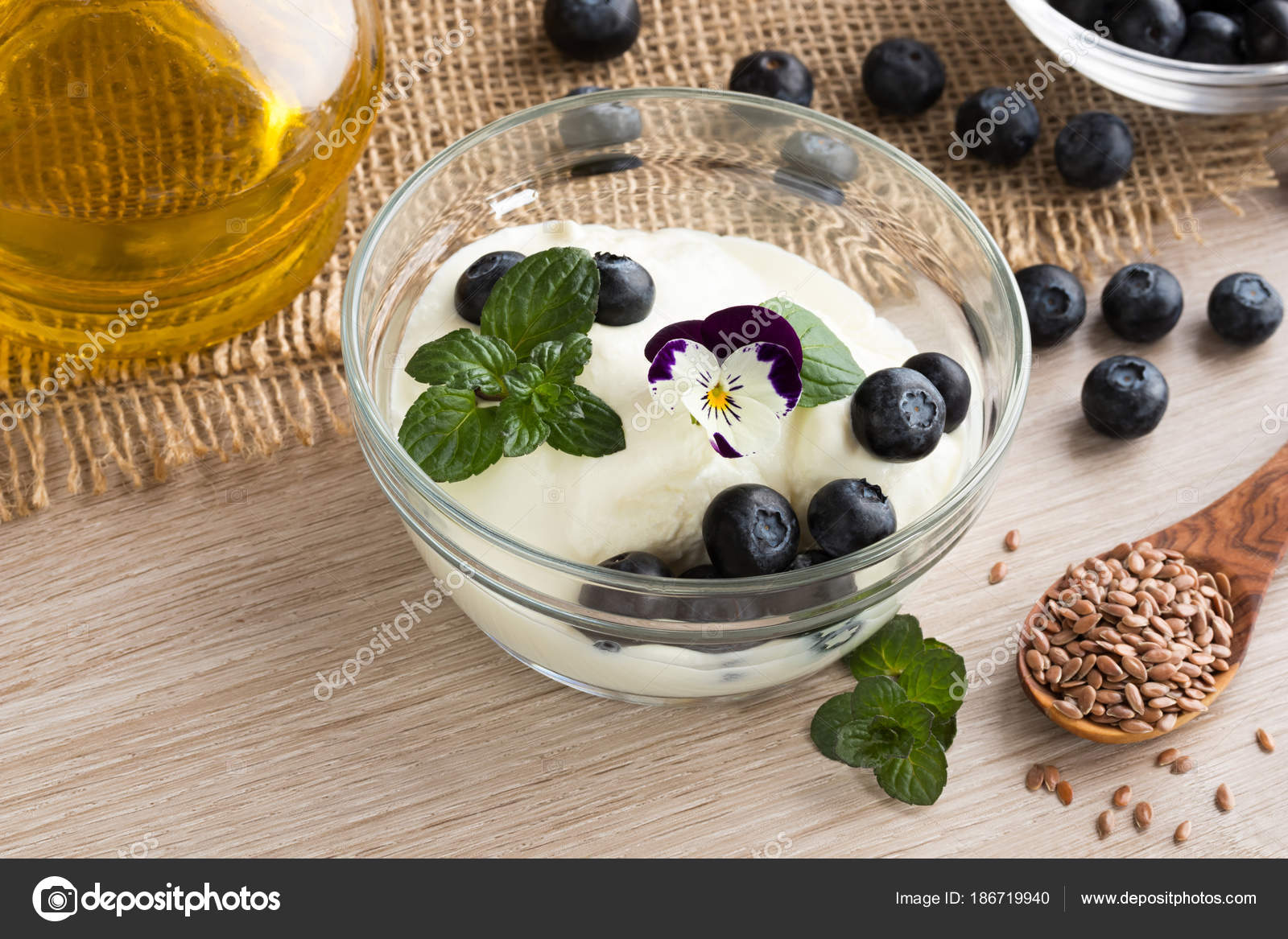 cottage cheese with flax seed oil blueberries and flax seeds rh depositphotos com cottage cheese and flaxseed oil diet cottage cheese and flaxseed for cancer