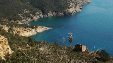 Zpomalené video nádherný ostrov Elba v Toskánsko, Itálie, Hd