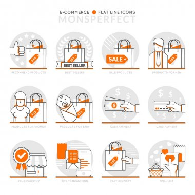 Infographic Icons Elements about E-Commerce.