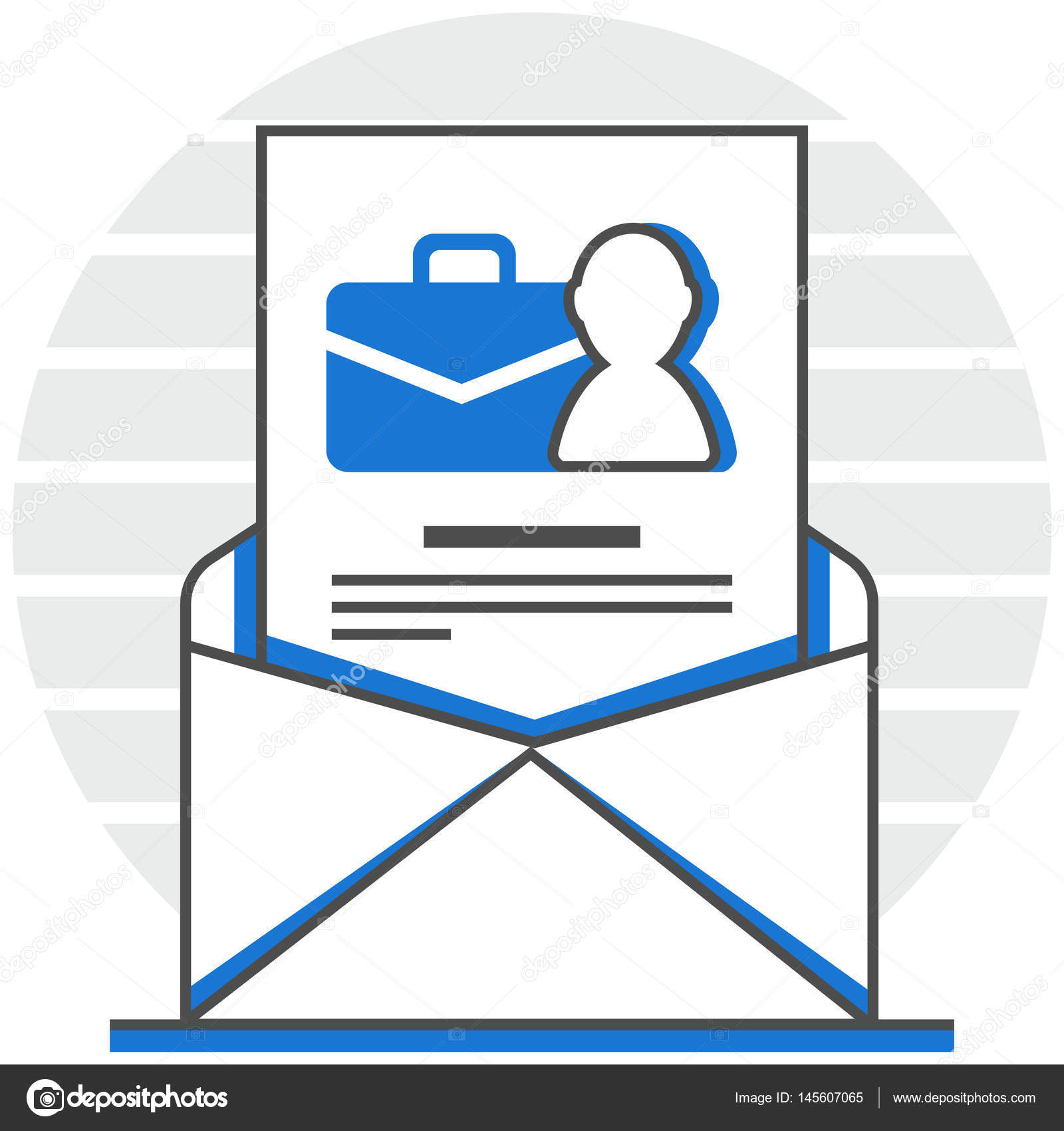 Cover Letter Infographic Icon Elements From Human Resource Set