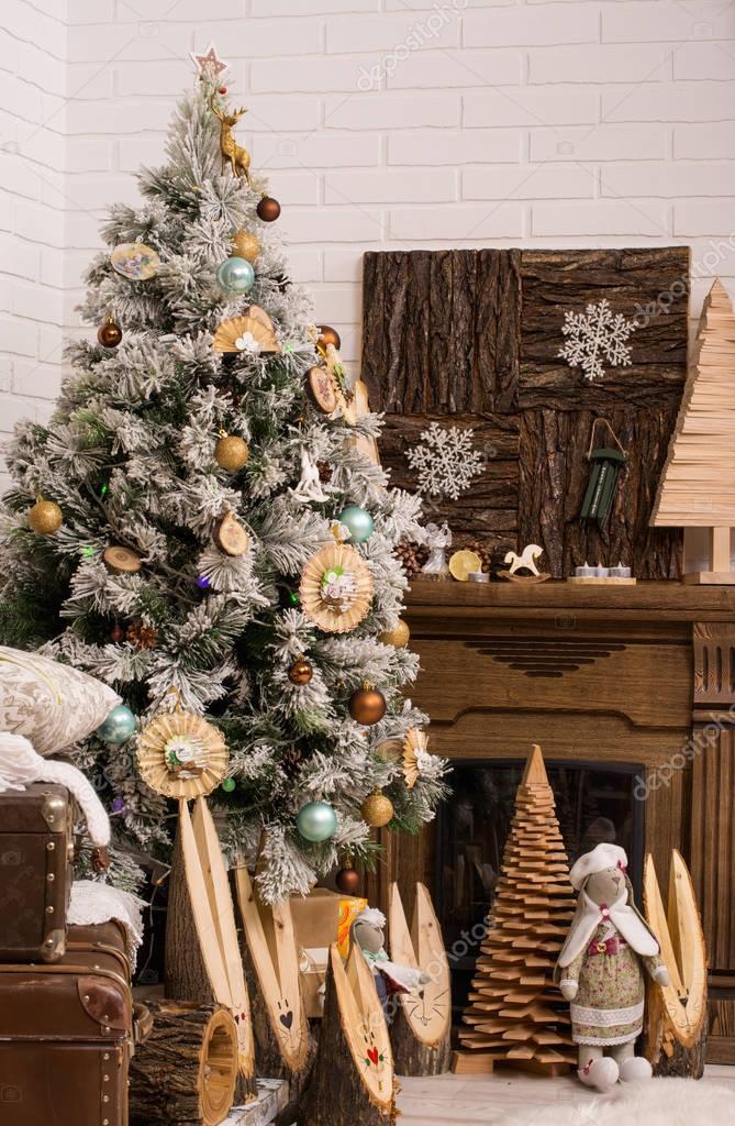 Albero Di Natale Con Decorazioni Di Festa Decorazioni Di Natale