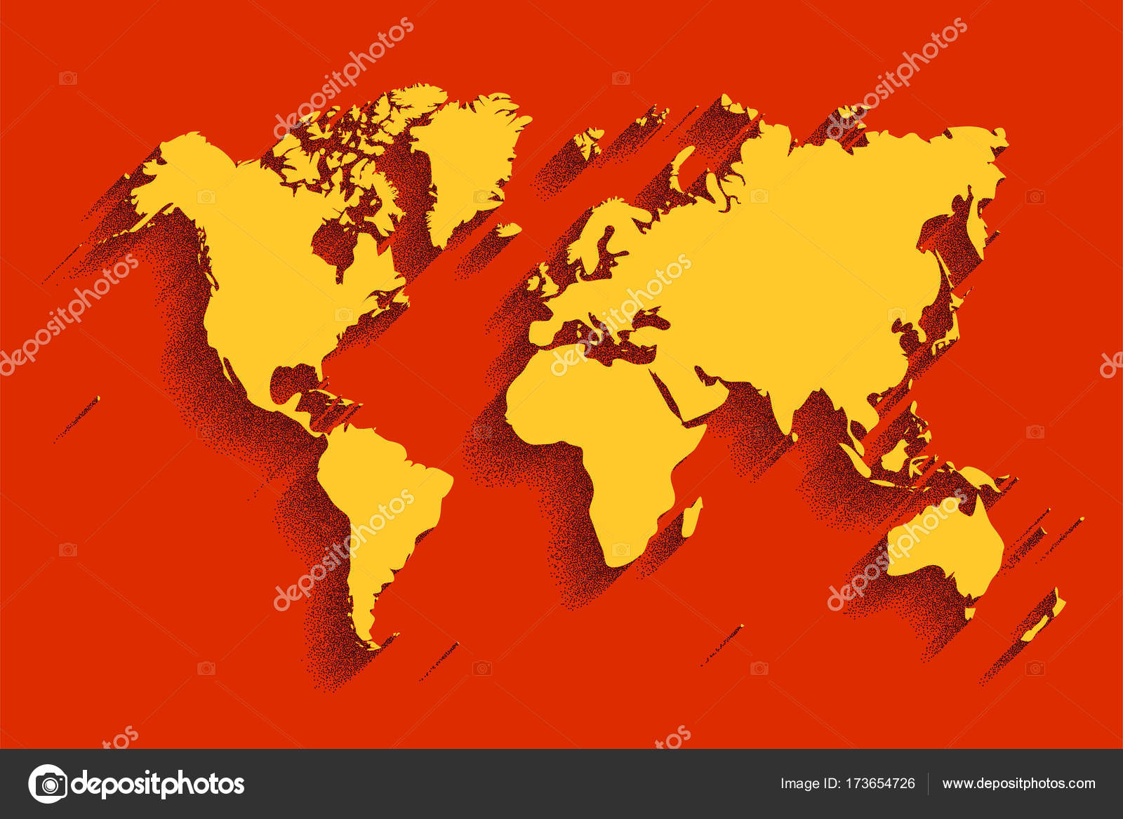 World map vector color background with shadow stock vector world map vector color background with shadow stock vector gumiabroncs Images