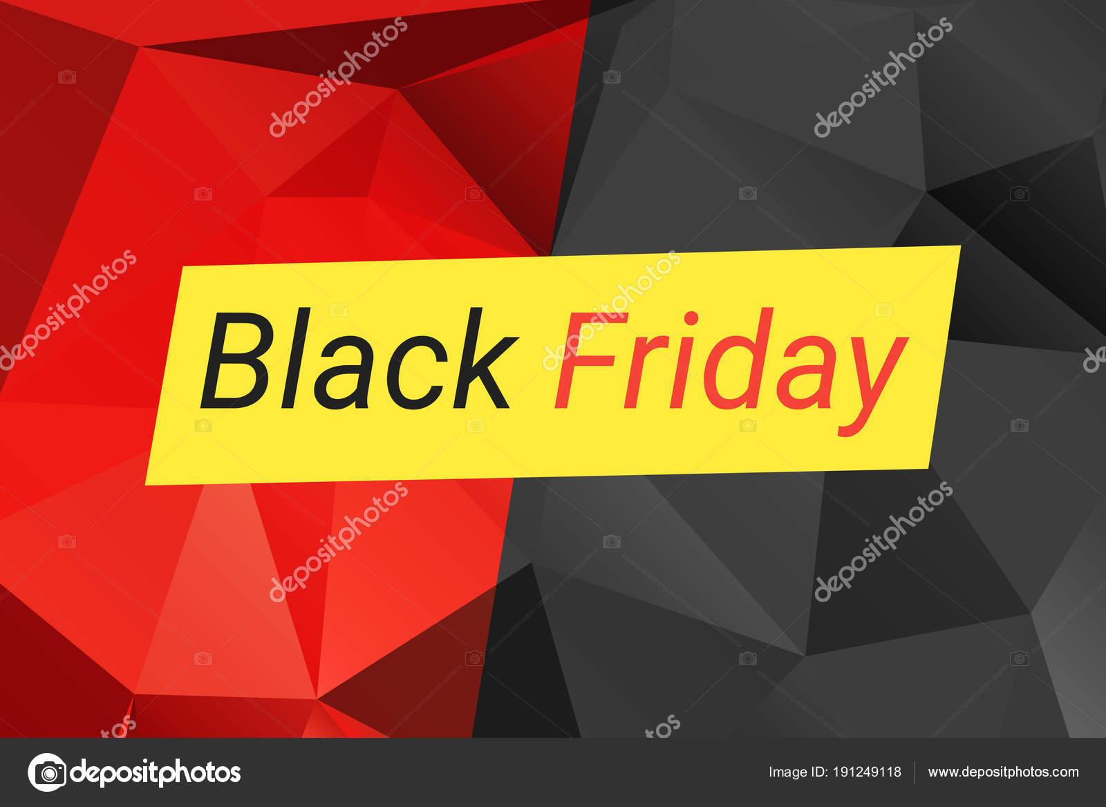9266f384e Modelo de design de venda sexta-feira negro. Ilustração vetorial com  triângulos em vermelho