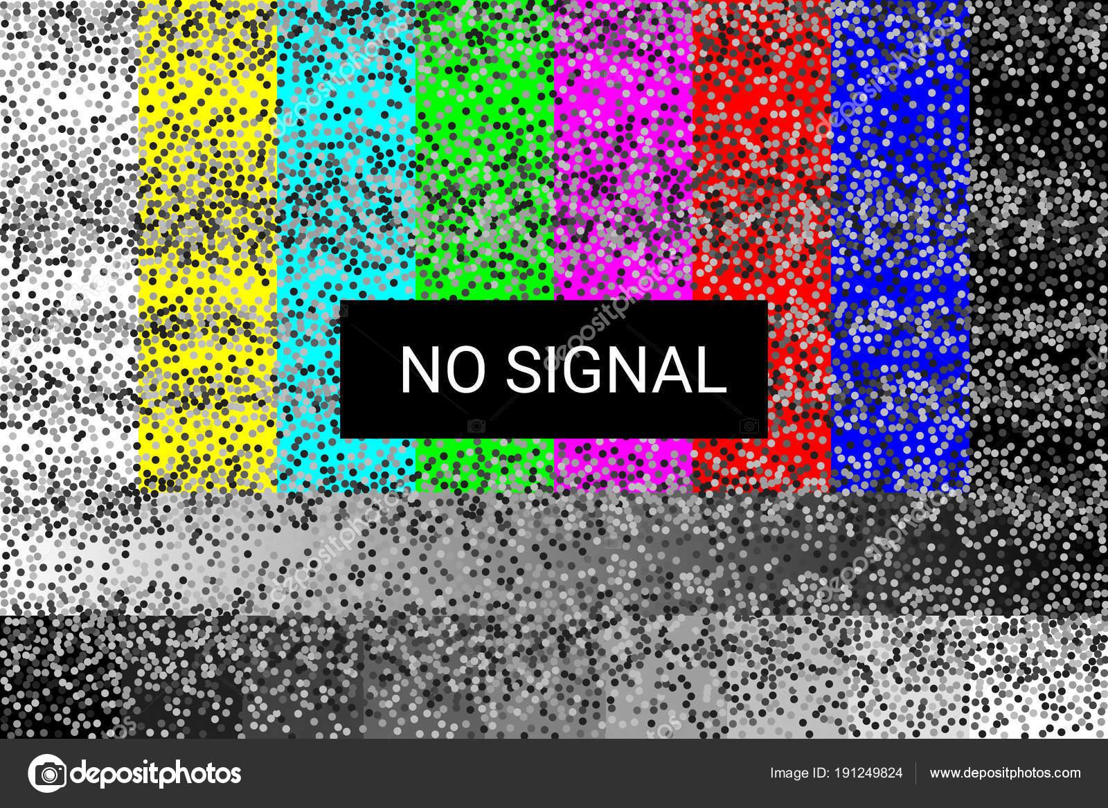 TV kein Signal. statische Bildschirm. 4k full HD-Auflösungen. Vektor ...