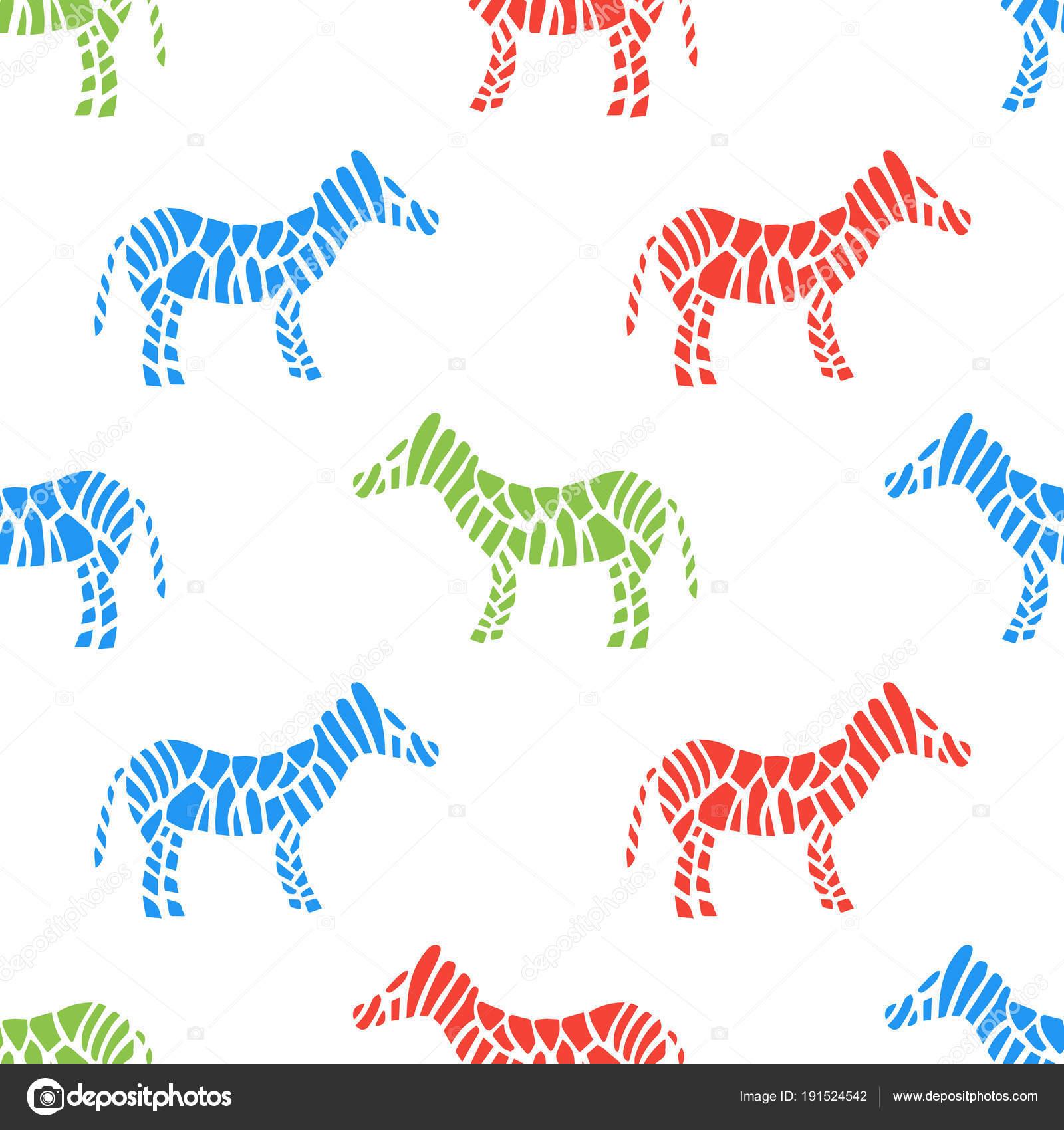 cebra rayas superficiales de patrones sin fisuras. Ilustración de ...