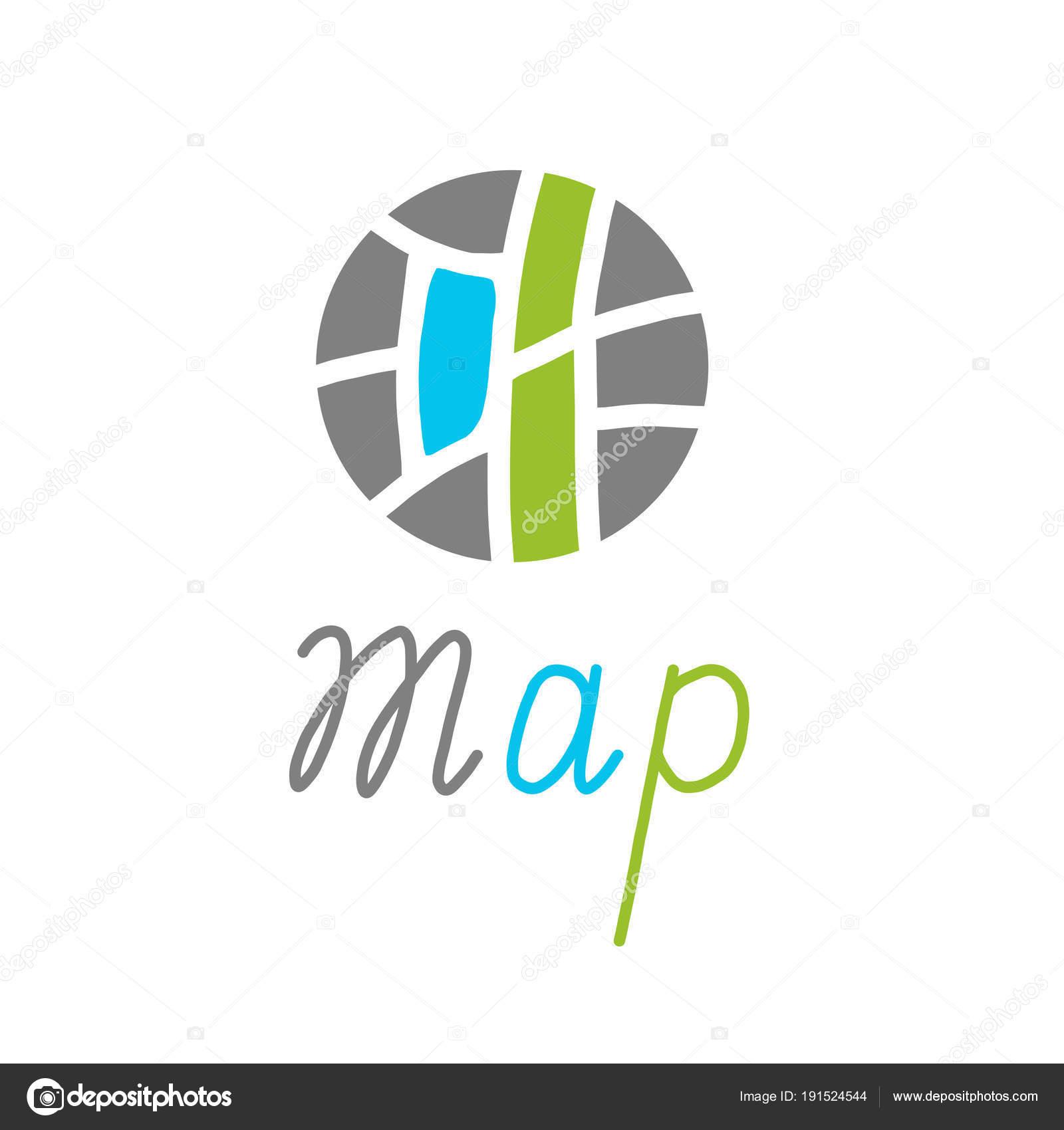 City Map Creative Symbol Concept Vector Illustration Stock Vector