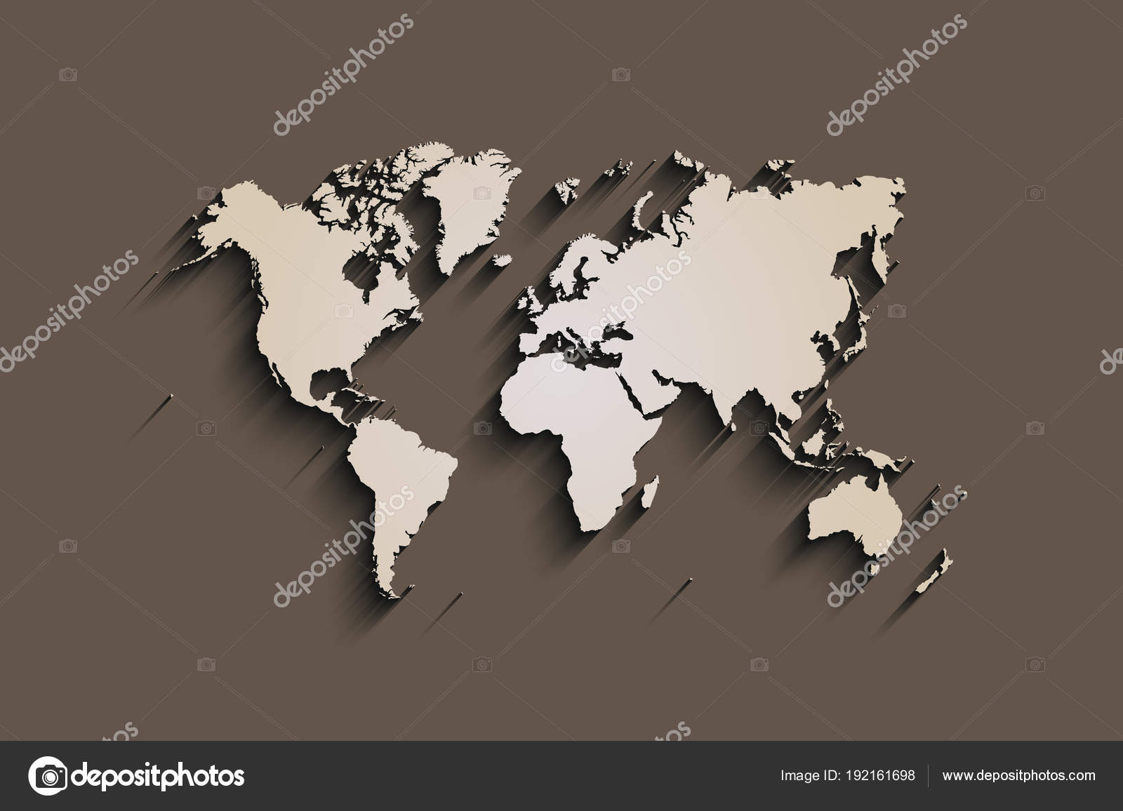 Flat World Map Abstract Vector Background For Wallpaper Banner