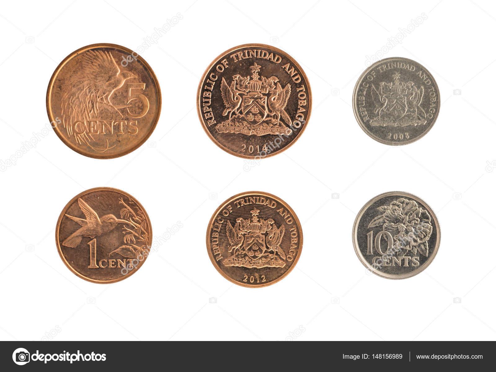 monedas de trinidad y tobago que representa el emblema nacional aislado foto de stock. Black Bedroom Furniture Sets. Home Design Ideas