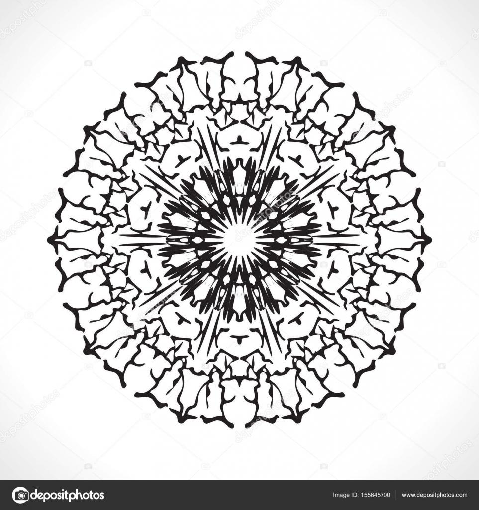 Flor Mandala para colorear libro — Vector de stock © Oksana6299956 ...