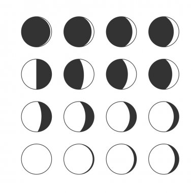 Moon phases icons