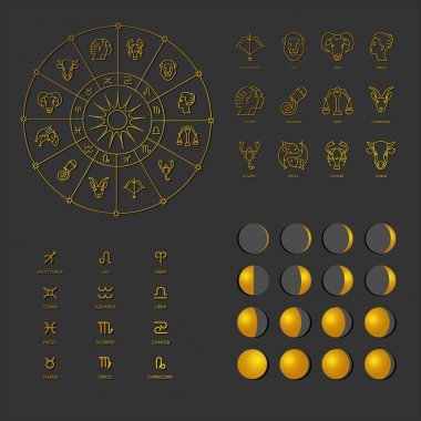 Set icons phases of the Moon