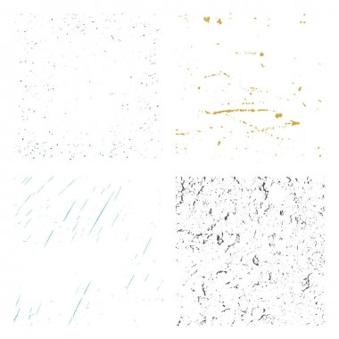 Set of Grunge Distress Textures