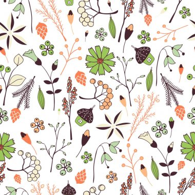 Floral Pattern in doodle style