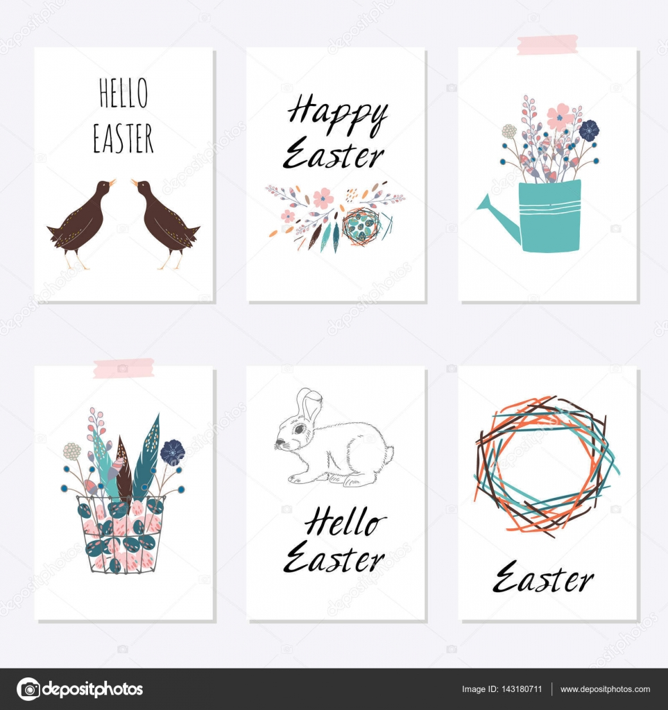 easter cards templates stock vector olhayerofieieva 143180711