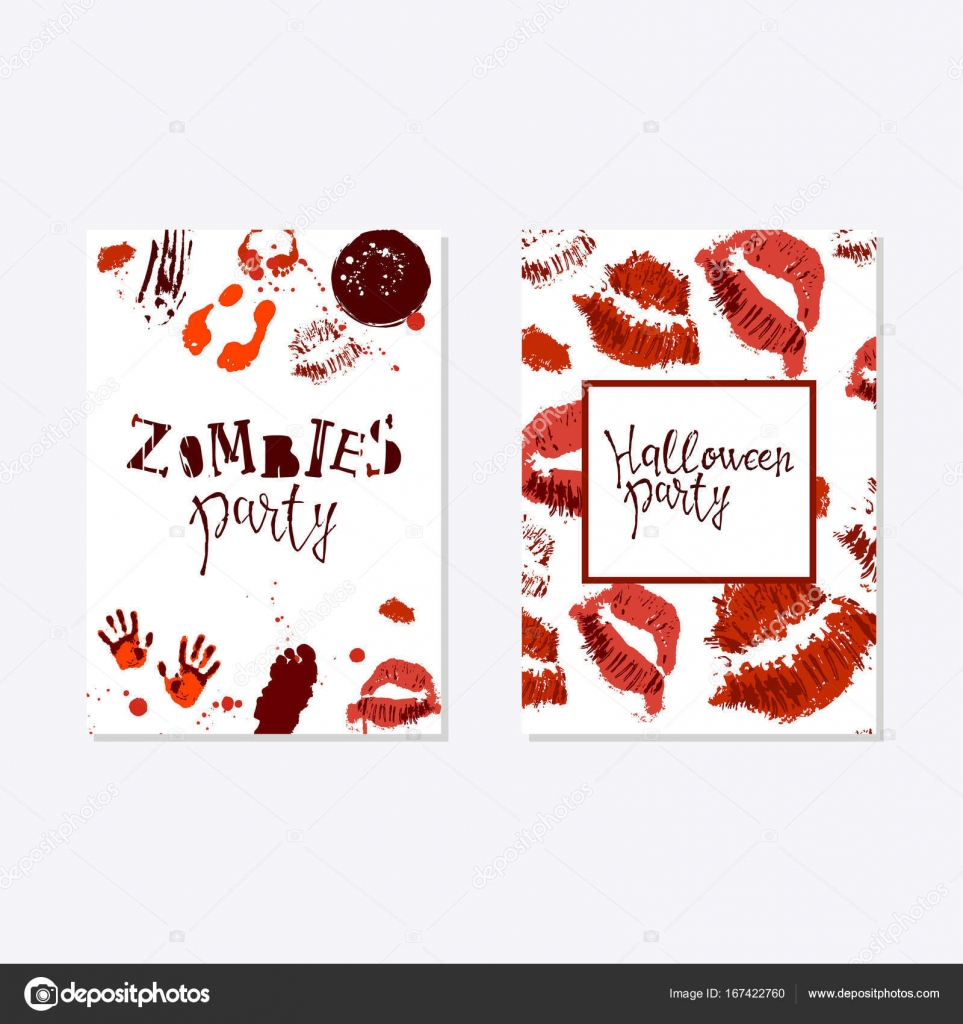 Vector set of halloween poster stock vector olhayerofieieva vector set of halloween poster designs with halloween symbols and calligraphy scary halloween card party invitation design greetings words and phrases kristyandbryce Images