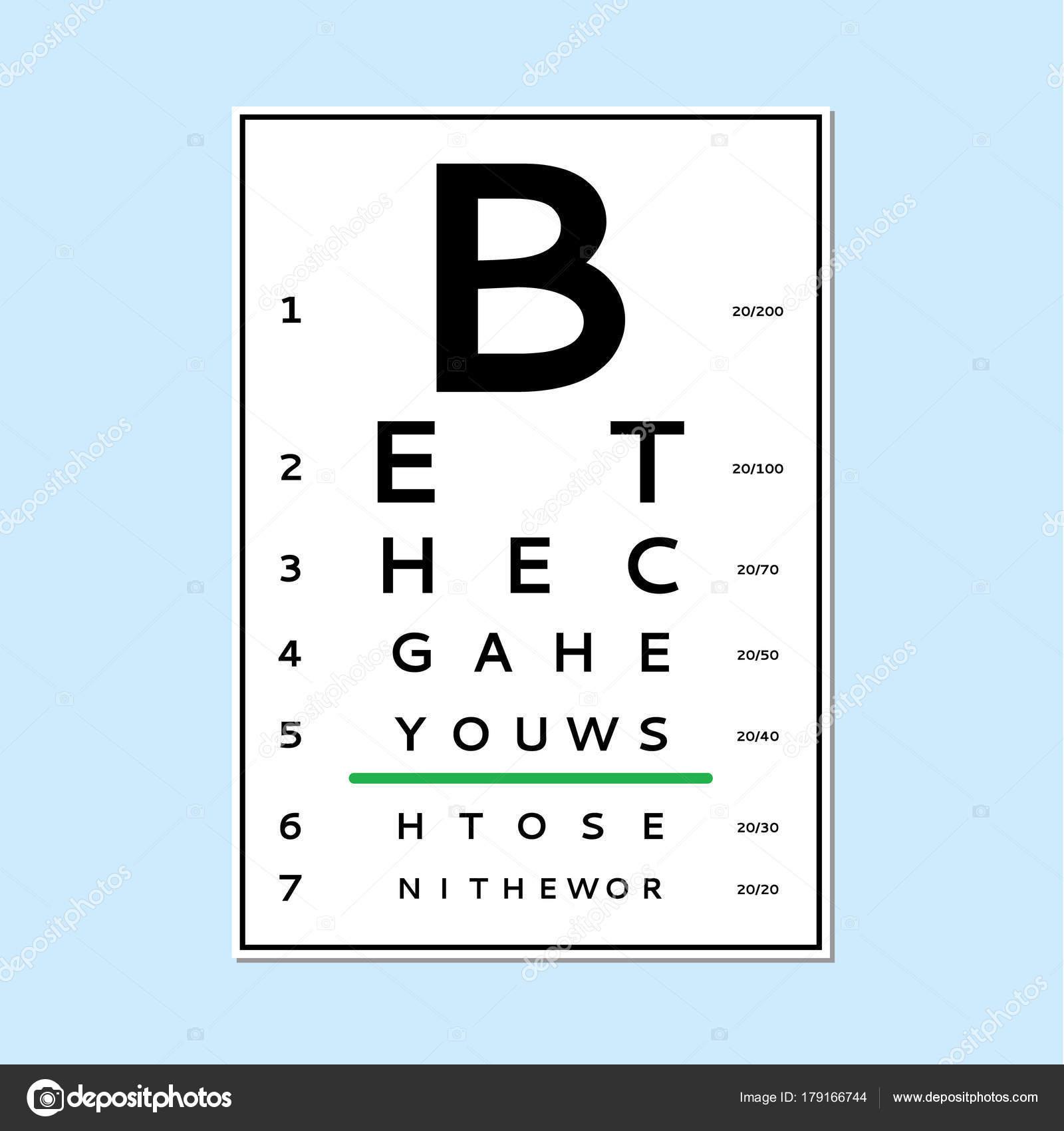 Eyes test chart stock vector olhayerofieieva 179166744 eyes test chart stock vector geenschuldenfo Image collections