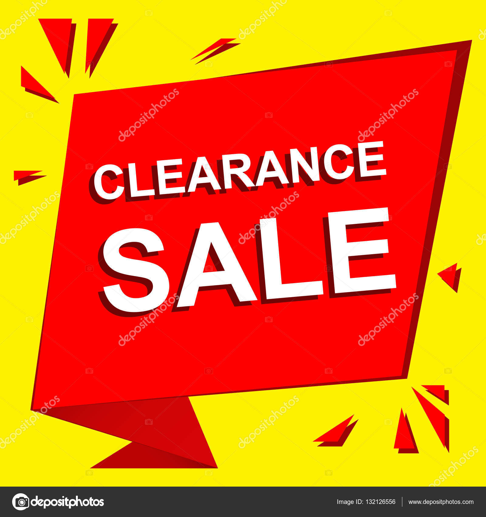 07182fd3bd4 Sale poster with CLEARANCE SALE text. Advertising vector banner — Stock  Vector