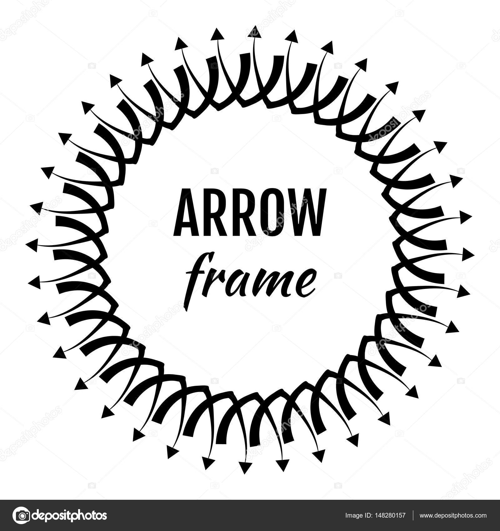 Circle Vector Frames or Borders Made of Arrows Symbols — Stock ...