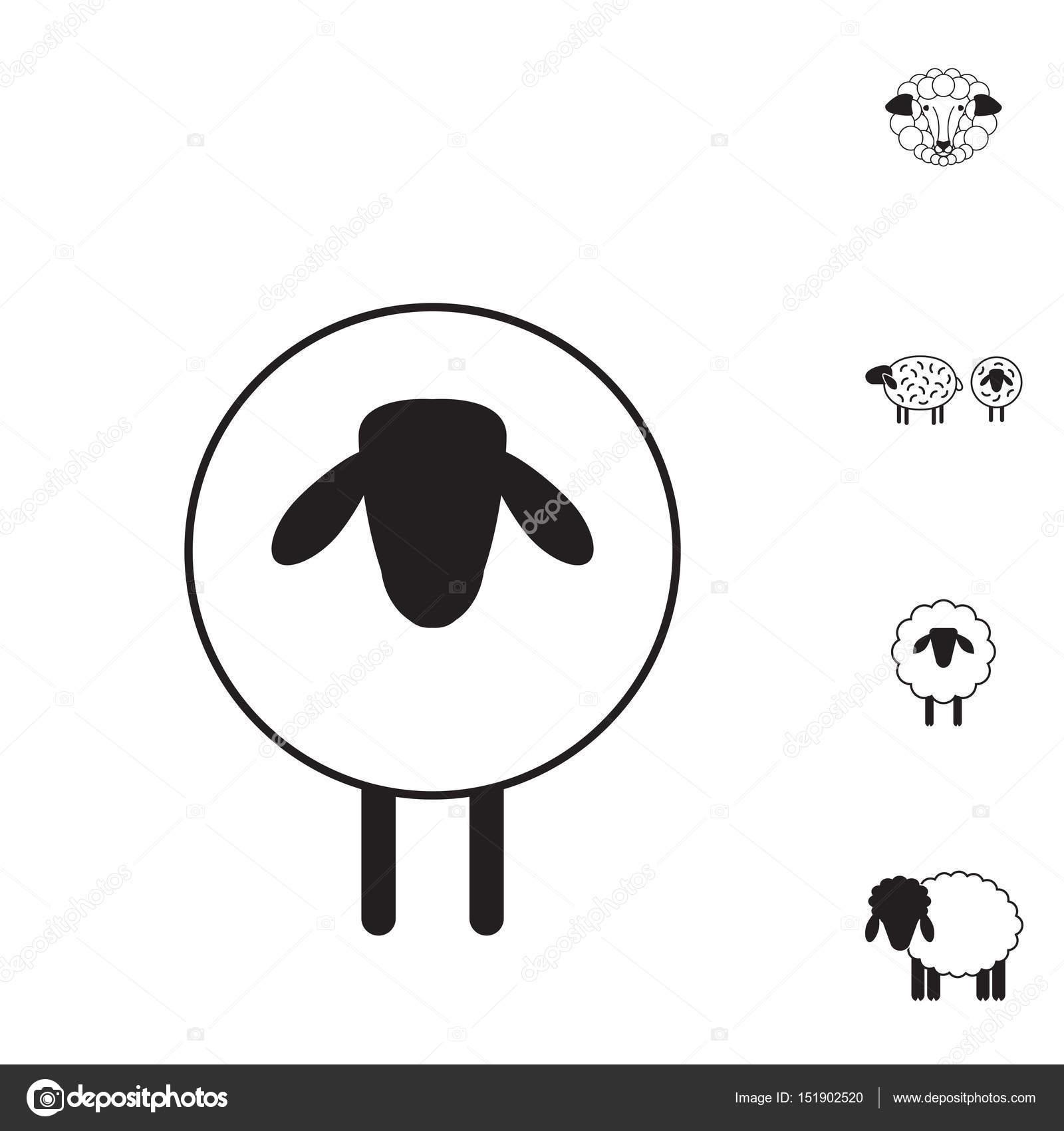 Oveja o carnero icono, Logo, plantilla, pictograma — Vector de stock ...
