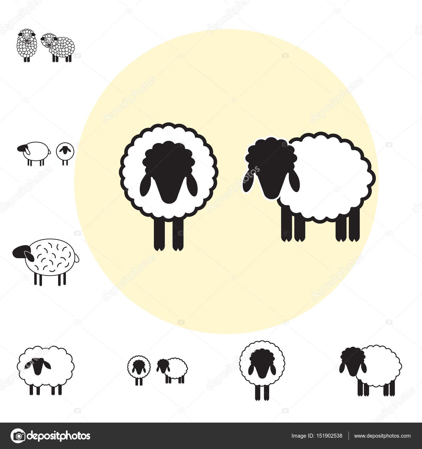 Oveja o carnero icono, Logo, plantilla, pictograma — Archivo ...