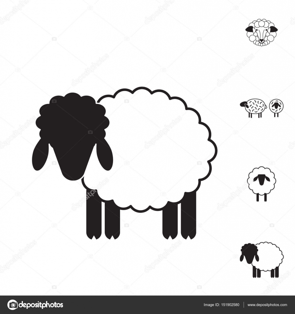 Sheep or Ram Icon, Logo, Template, Pictogram — Stock Vector ...
