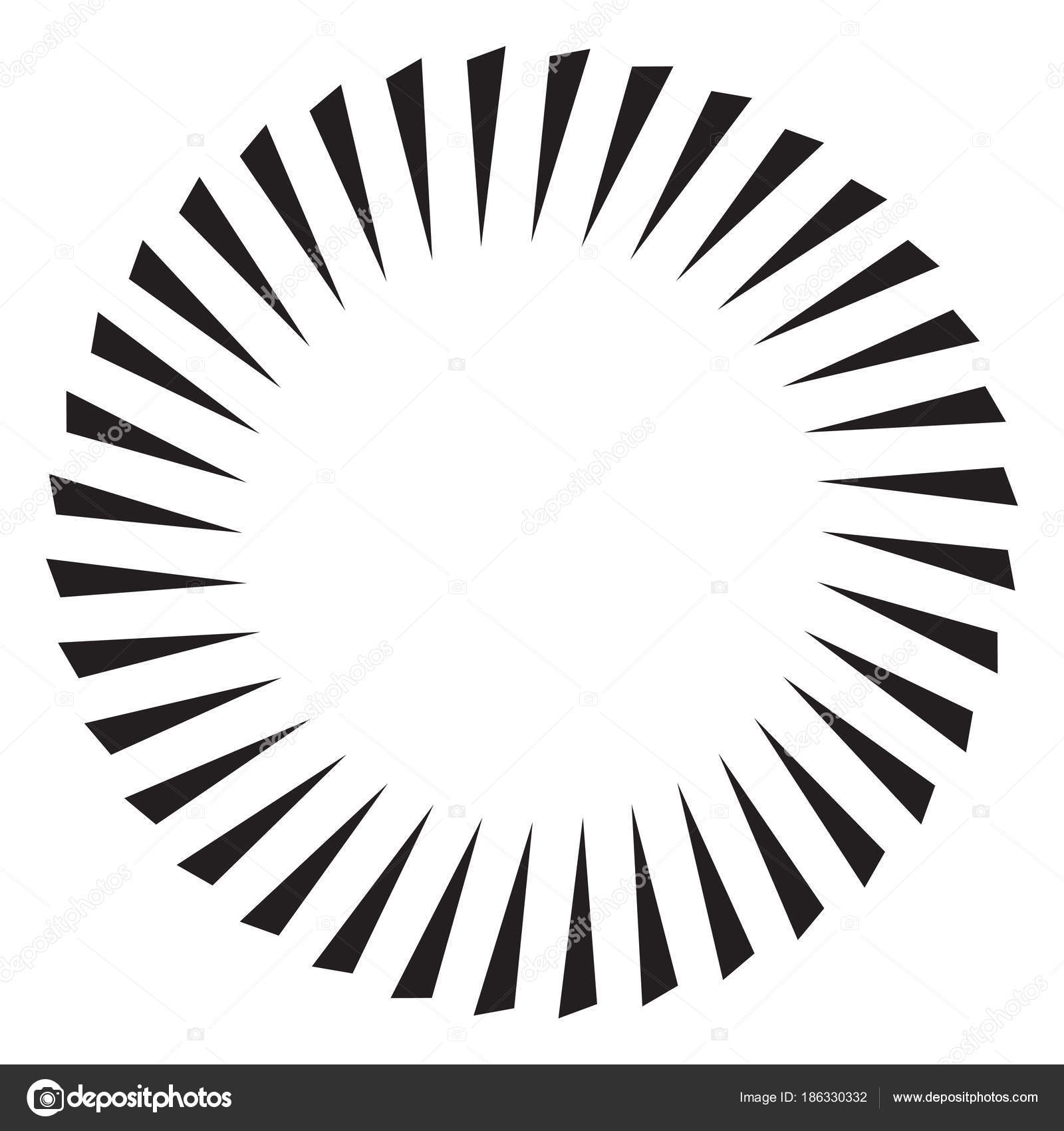 Black and white sun vector icon star pictograph speed line fast motion background vector by