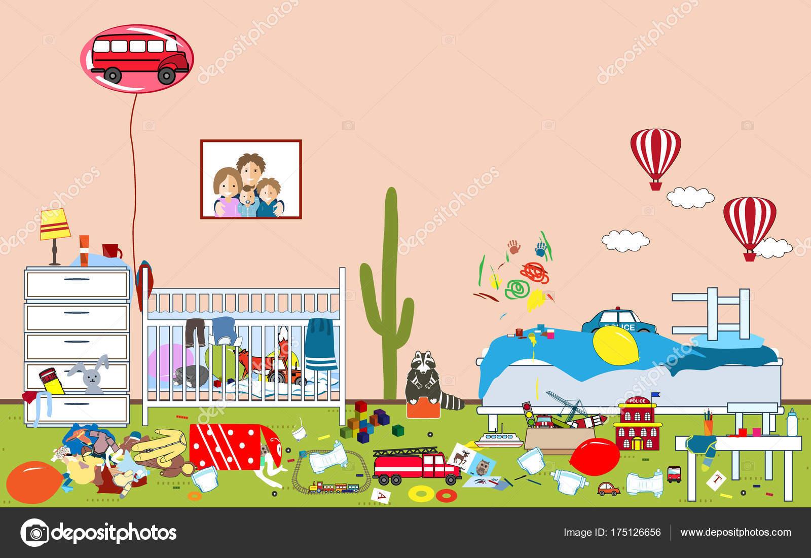 Fotos: dibujo de niño limpiando su cuarto | Niños habitación ...