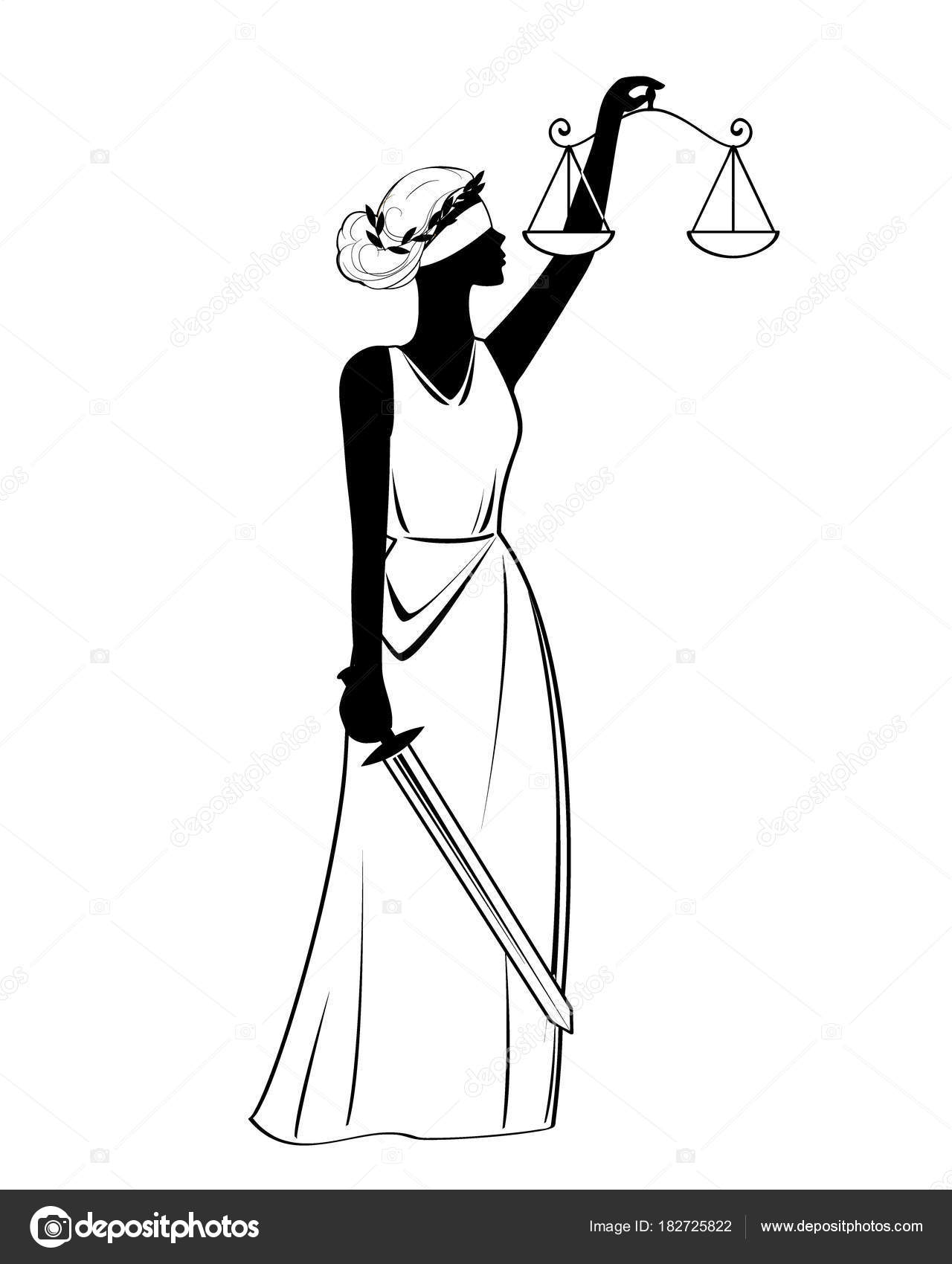 Simbolo De Justicia Para Colorear Icono De Justicia Estatua