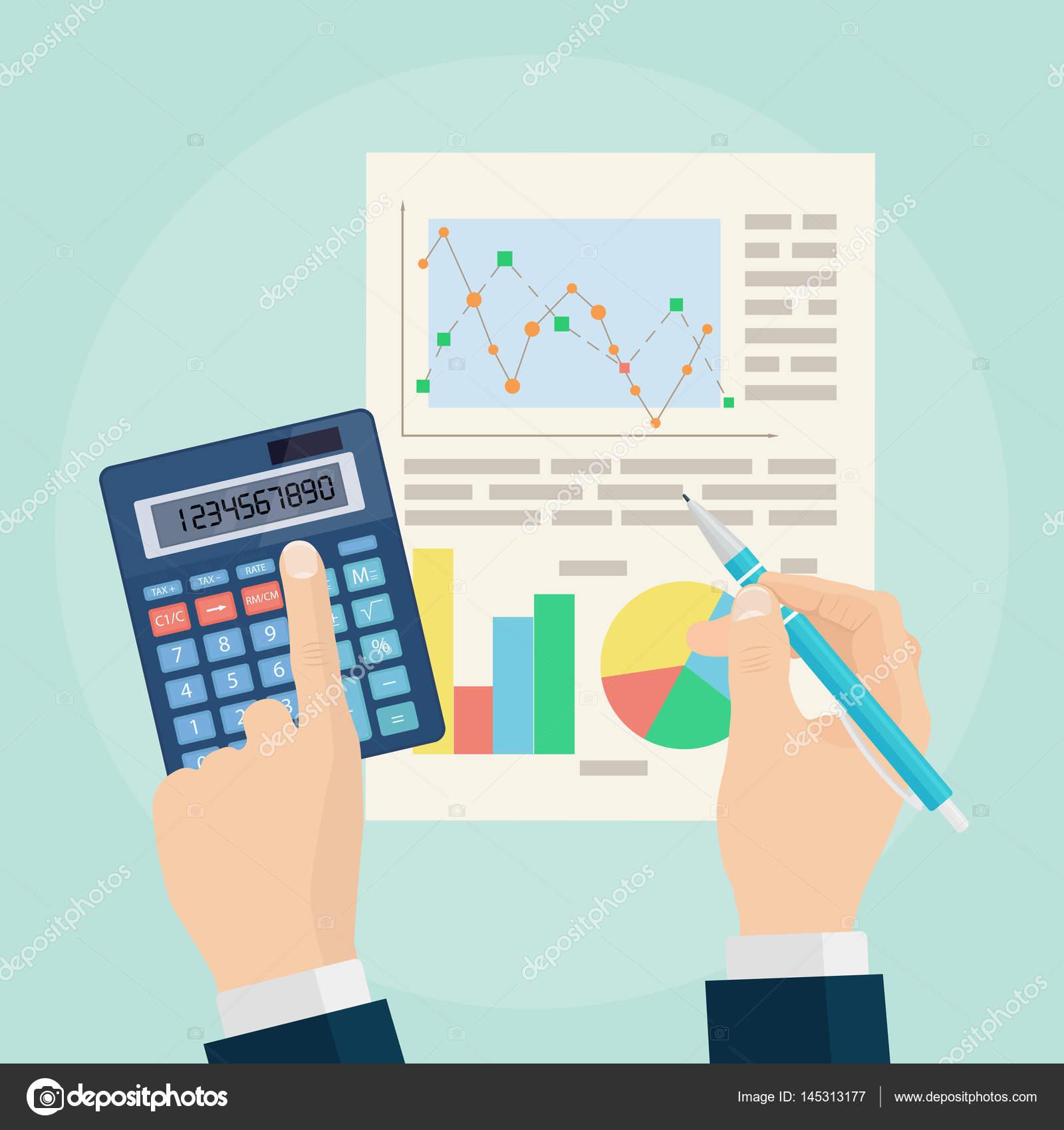 Data analysis concept. Business analytics. Financial audit ...