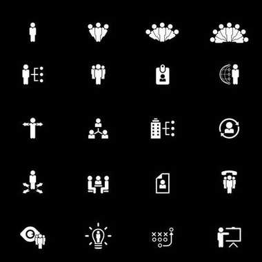 human resources vector icon set