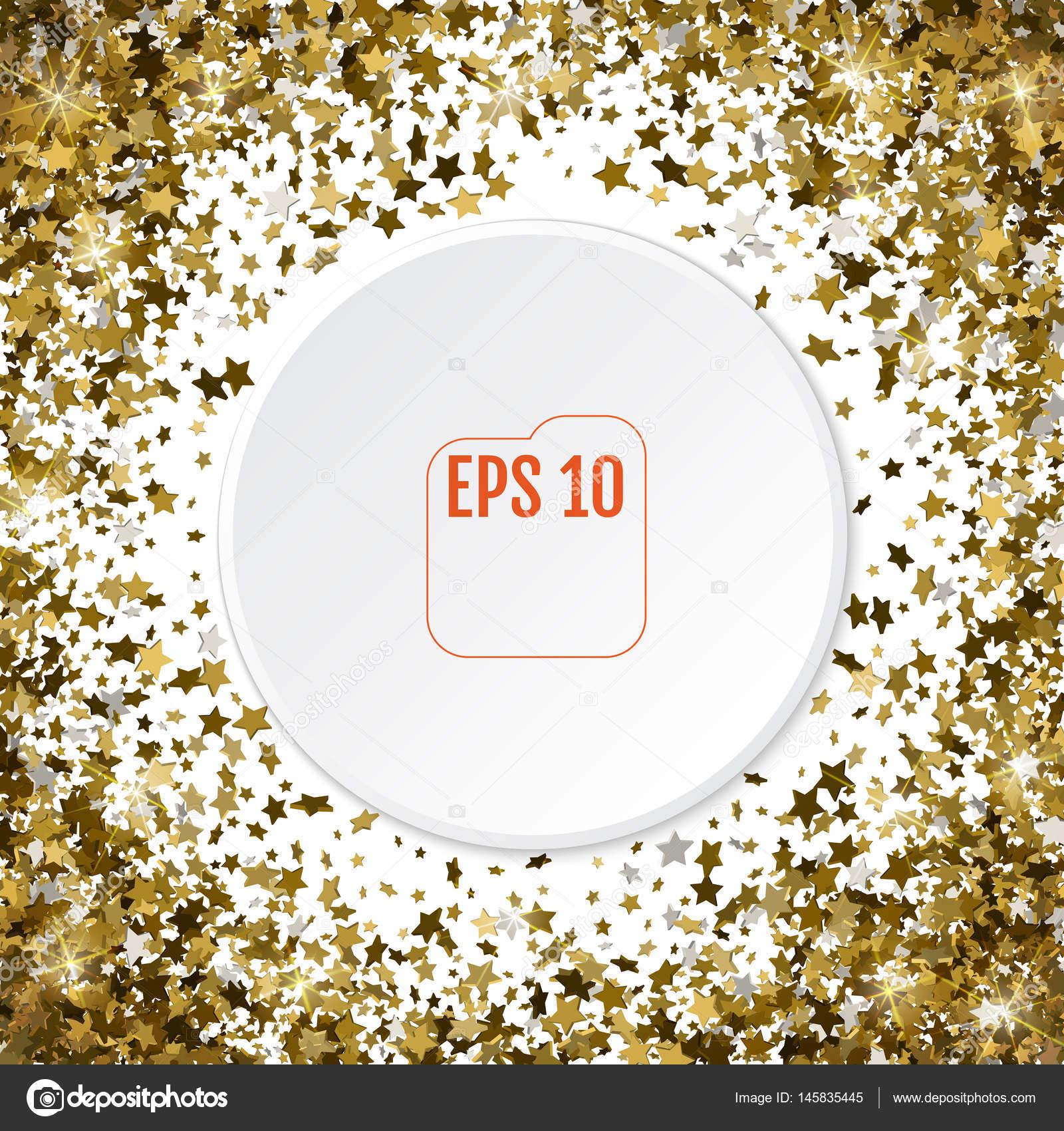 Runde Goldrahmen oder Grenze der zufälligen Streuung 3d goldene ...