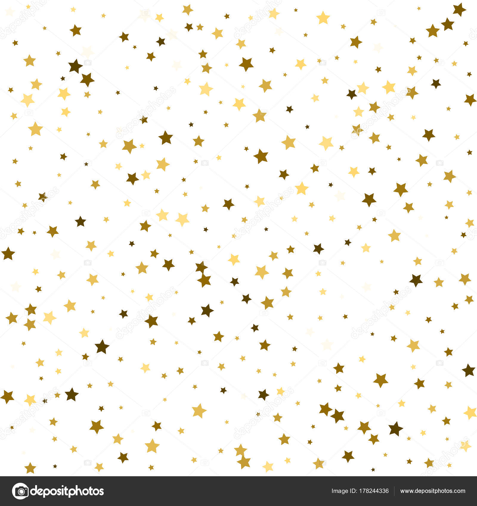 festive vector new year christmas background glitter sparkles gold stars confetti shining magic decoration luxury background celebration border