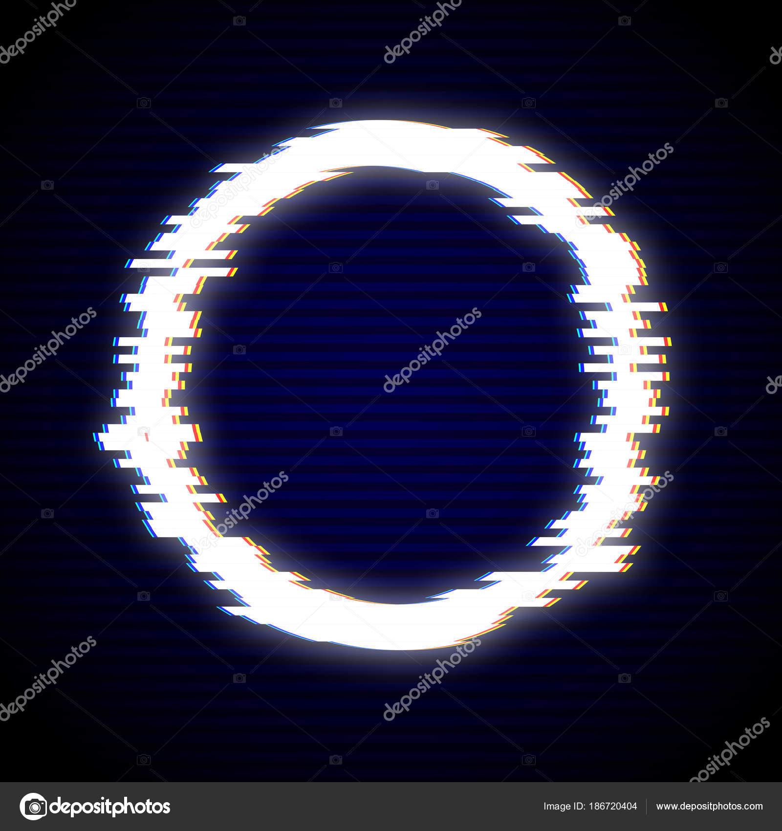 Ilustración de vector de diseño de marco de fallo del círculo. G ...