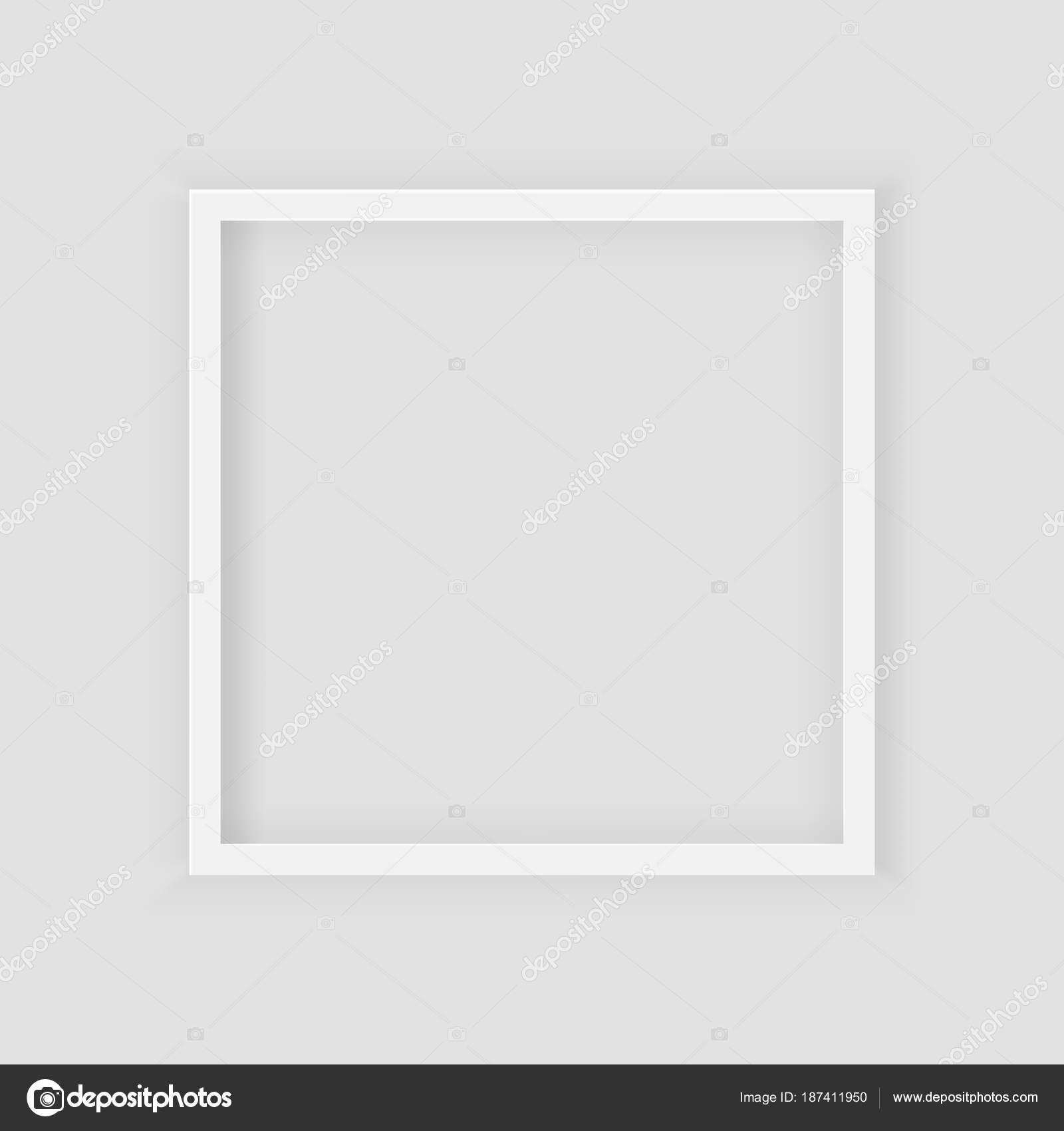 3D Bild quadratischen Rahmen-Design. Realistische quadratische weiße ...