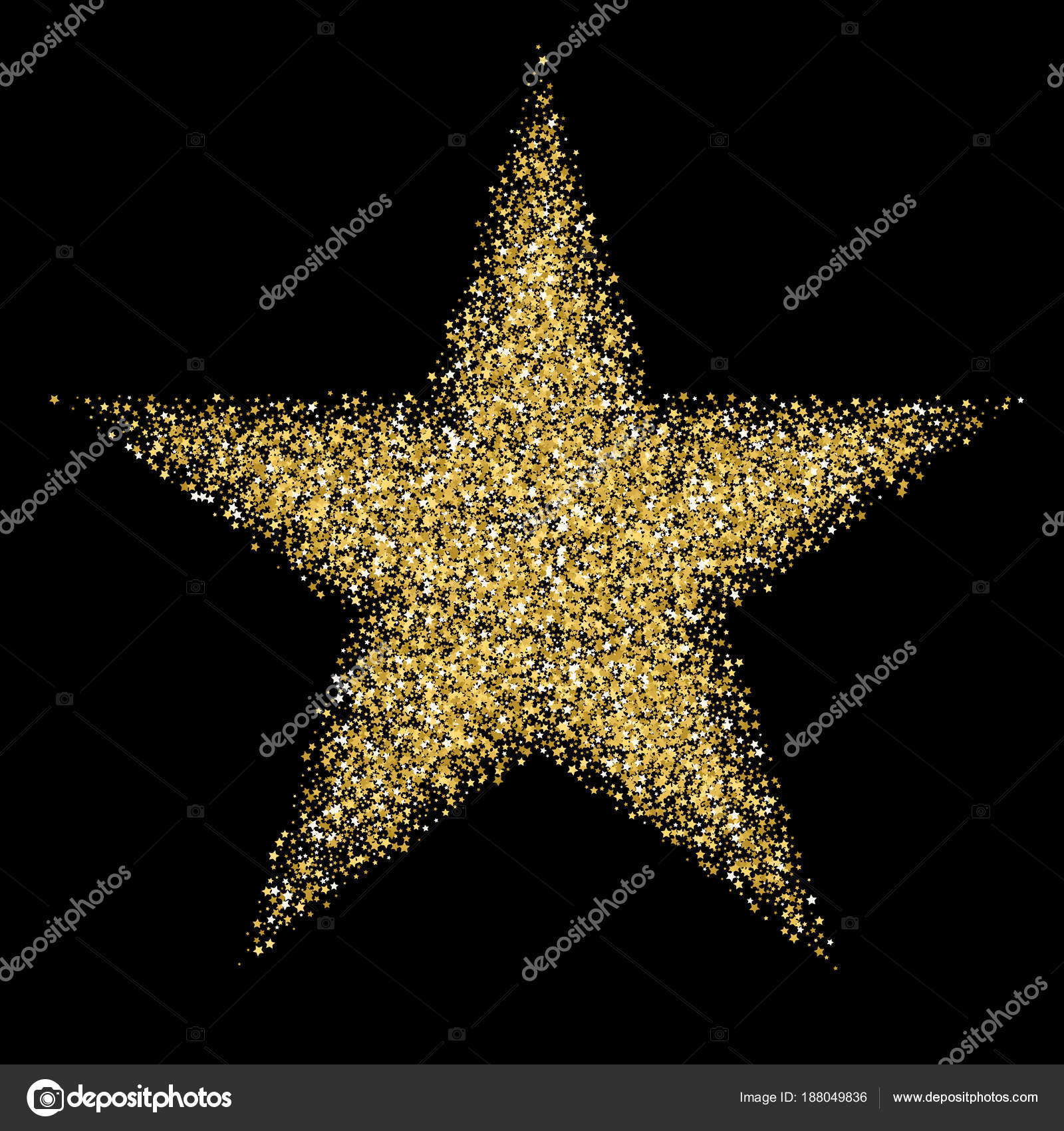 Gold Template Star For Banner Card Vip Exclusive Certificate