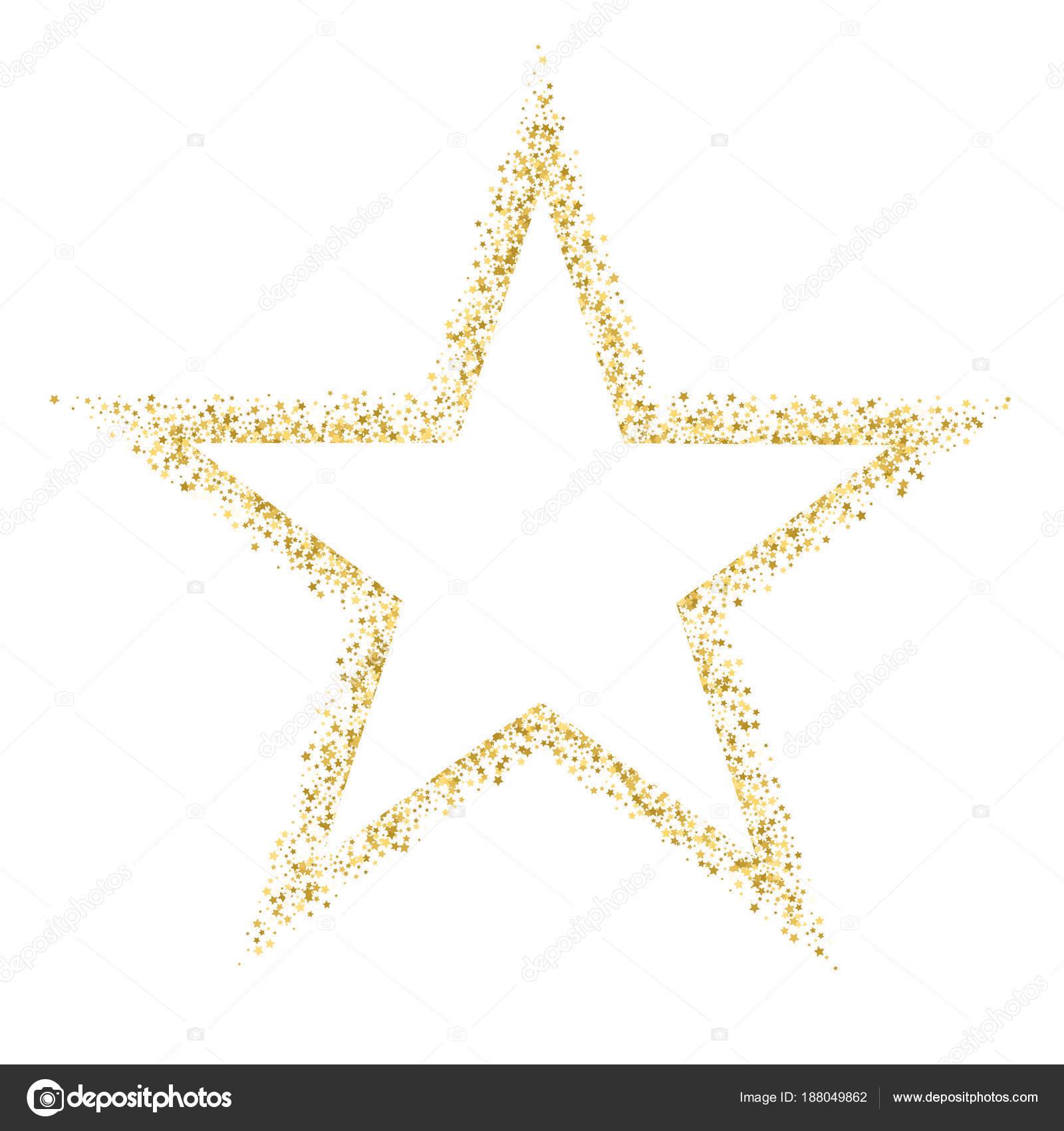 Gold-Vorlage Stern für Banner, Karte, vip, exklusive, Zertifikat ...