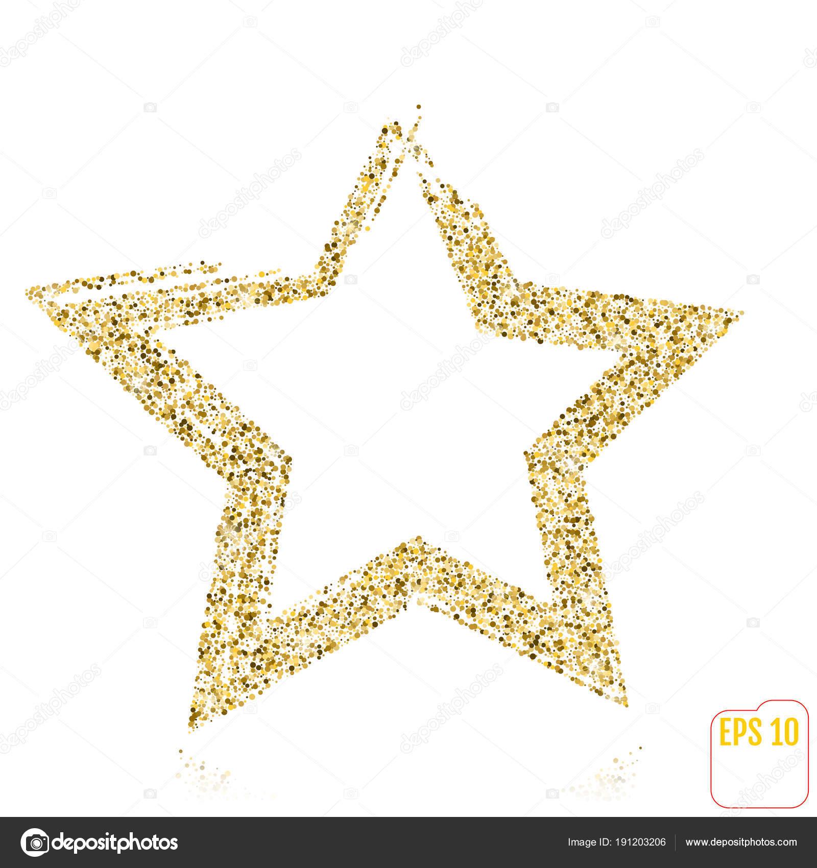 Goldene Sterne Vektor Banner Gold Glitter Sterne Gold Vorlage